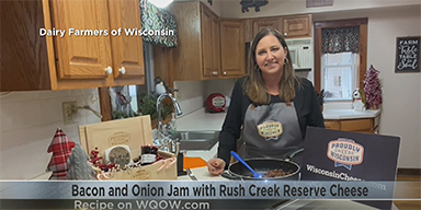 Rush Creek Reserve with Bacon Onion Jam