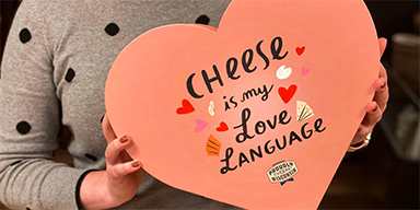 This Valentine's Day, Show Them You Care With a Heart-Shaped Box of Cheese