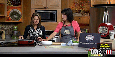 Fox 11 Living with Amy: Warm Brussels Sprouts Slaw with Blue Cheese