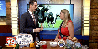 WXOW-TV 19: Alice in Dairyland Showcases Sustainable Party Plate
