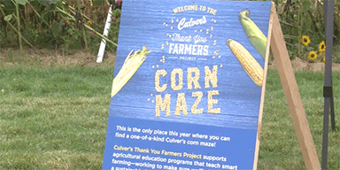 WAOW-TV 9: Stevens Point Corn Maze Pays Tribute to Farmers