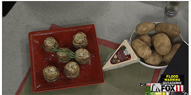 Fox 11 Living with Amy: Rosemary Romano Potato Stacks